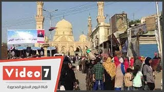 توافد أحباب «شيخ العرب» على مسجد السيد البدوى بطنطا