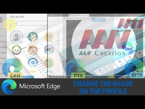 How to Change the image on the Profile on Chromium Version of Edge