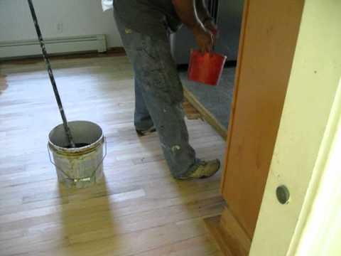 Hardwood floor staining |  www.allcareflooring.com