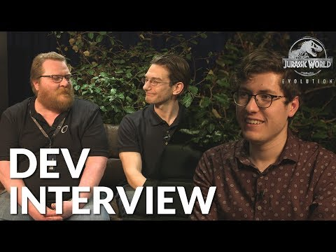 Jurassic World Evolution - Developer Interview (ft. Michael Brookes & Andy Fletcher)