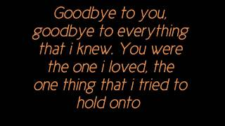 Michelle Branch-Goodbye To You (Lyrics)