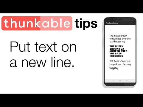 Thunkable Basics: New Line