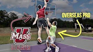 D1 Basketball Player Vs Overseas Pro ON AN 8ft HOOP!