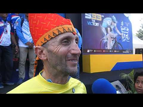 Interview Davide Rebellin Juara International Tour de Banyuwangi Ijen 2017