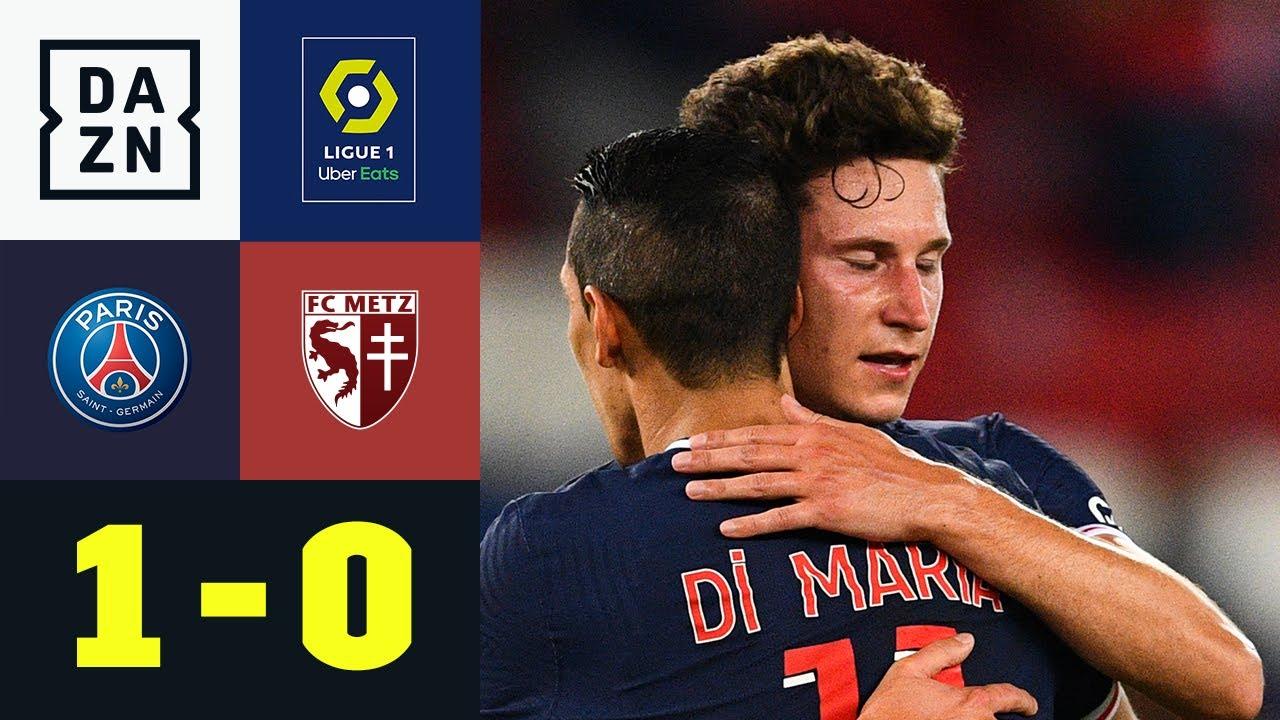 Für PSG ausnahmsweise mal Rot - Draxler rettet: PSG - Metz 1:0   Ligue 1   DAZN Highlights