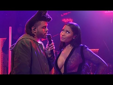"The Weeknd & Nicki Minaj Perform ""The Hills"" on SNL"