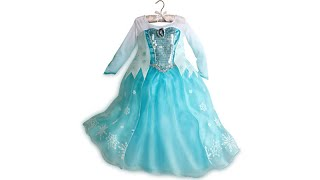 FROZEN QUEEN ELSA DISNEY STORE DRESS REVIEW Disney Princess Elsa Anna Olaf
