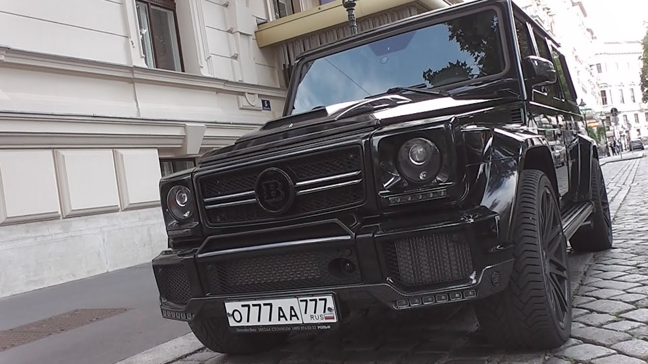 brabus b65 (mercedes g65 amg) - start up & loud revs! - youtube