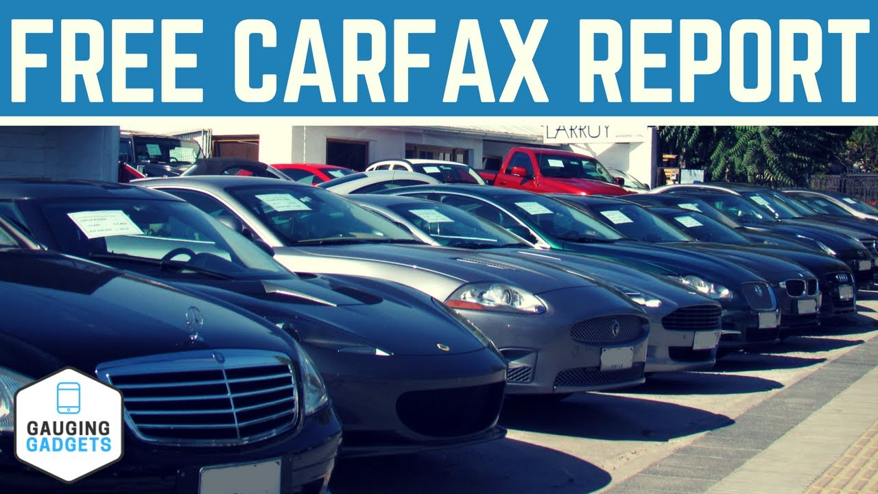 How To Get A Free Carfax Report