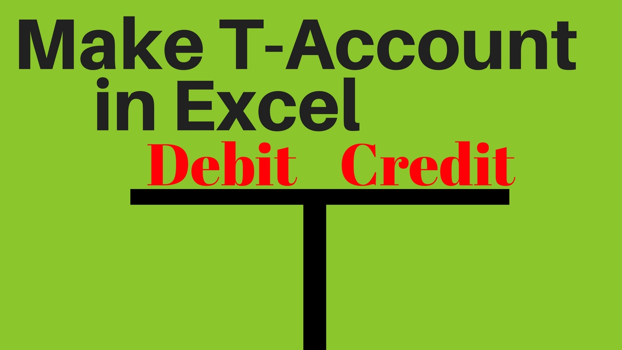 t account excel