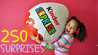 GIANT KINDER SURPRISE EGG | 250 Surprises | Toys AndMe