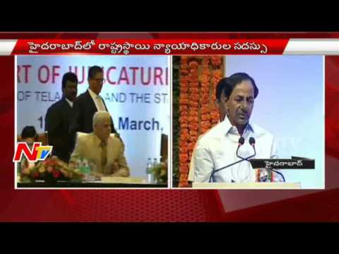 KCR Speech at State Level Judges Conference in Hyderabad | NTV