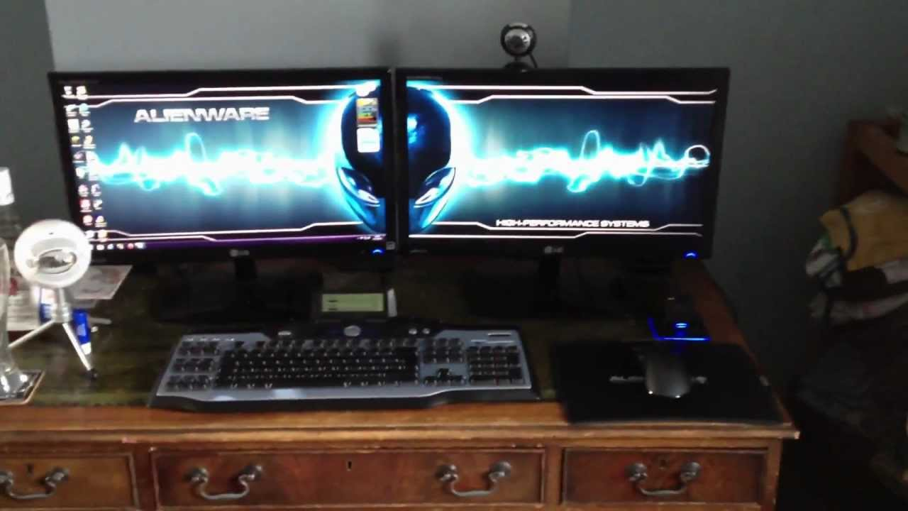 Alienware Gaming Setup Video Thehair25 Youtube