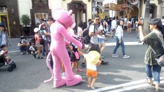 【USJ】☆キャラグリ☆ピンクパンサーに遭遇!☆character greeting☆ The encounter in Pink Panther!