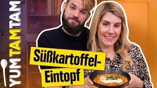 Ein EINTOPF mit ERDNUSSBUTTER? // Süßkartoffel-Erdnuss-Eintopf // #yumtamtam