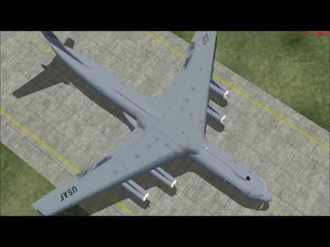 【FS2002】警報がリアル!? C-141Bで横田基地から厚木基地へフライト!