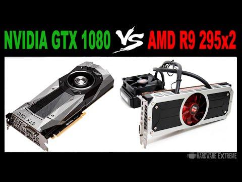 Nvidia GTX 1080 VS AMD R9 295x2 - Full HD e 4K (Desempenho em Jogos)