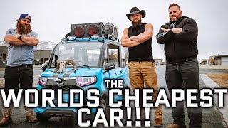 We Bought The World's Cheapest New Car *Weight Limit EXCEEDED*