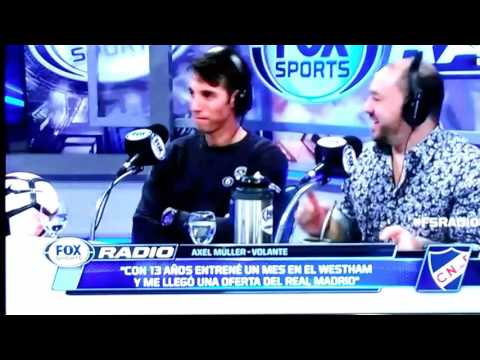 Axel Müller. Fox Sport Radio. Uruguay