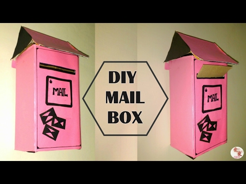 DIY Mail Box    How to recycle a Shoe Box to Letter Box    Post box making