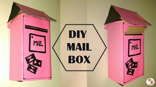 DIY Mail Box || How to recycle a Shoe Box to Letter Box || Post box making