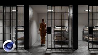 Designing a Prison Set in Cinema 4D   Set Designer
