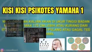 Psikotes PT YAMAHA 1 || Soal2 100% Asli || 2019