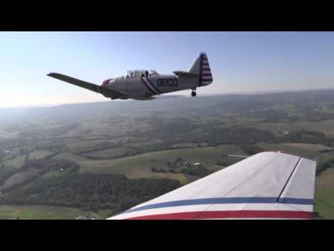 Fly along as vintage aircraft take to the Pennsylvania skies