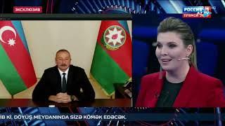 """Azərbaycan Prezidenti """"Rossiya-1"""" telekanalının """"60 dəqiqə"""" proqramında sualları cavablandırıb"""