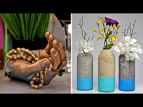 11 सीमेंट शिल्प   Cement ke Gamle   Cement Craft Ideas in Hindi   हिंदी DIY वीडियो   Blossom India