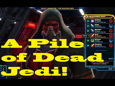 SWTOR Marauder Gameplay.  A Pile of Dead Jedi in Section X.