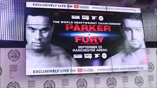 FURY V PARKER UNDERCARD WEIGH INS AND HEAD TO HEADS
