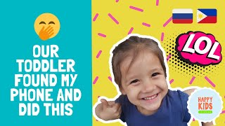 Toddler found my phone and DID THIS! | наша дочка нашла мой телефон и сняла это! | FUNNY VIDEO