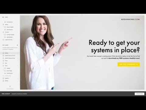 How to Set Up a Landing Page Part 1: Create a Squarespace Cover Page