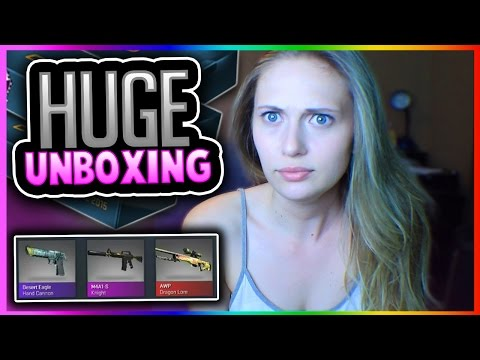 CSGO CASES - COBBLESTONE CASE OPENING! DRAGON LORE CASE COLLECTION OPENING + Weapon Case 1 Unboxing!