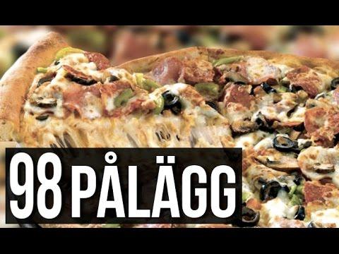 98 PÅLÄGG PÅ PIZZAN