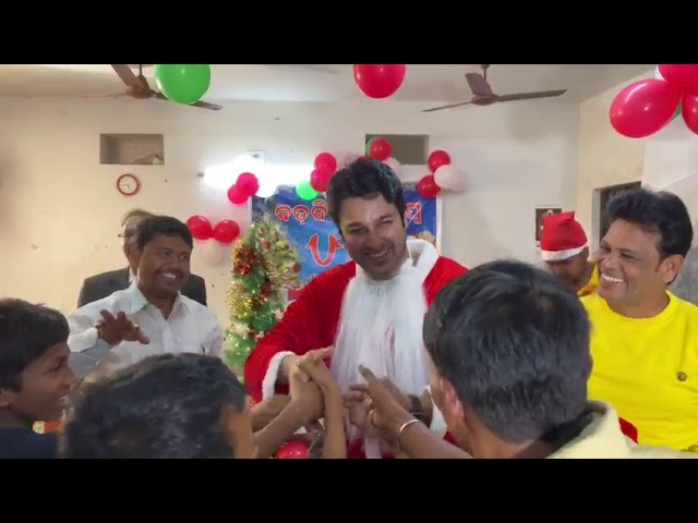 odia actor akasdas nayak as santa claus video viral