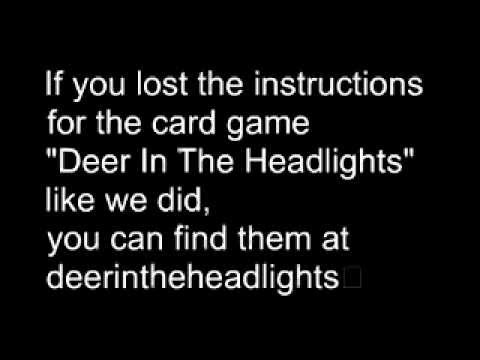 In the headlights card game instructions rules how to play youtube