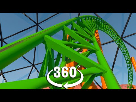 VR 360 Mars Roller Coaster Video For Oculus Quest HTC Vive And Virtual Reality