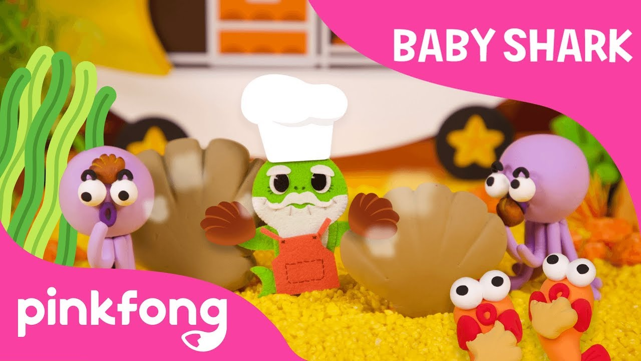 Hot Clam Buns   Baby Shark Clay   Pinkfong Clay   Pinkfong Songs for Children