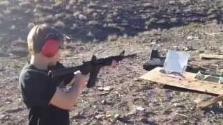 California illegal AR 15 being shot by 10 year old.