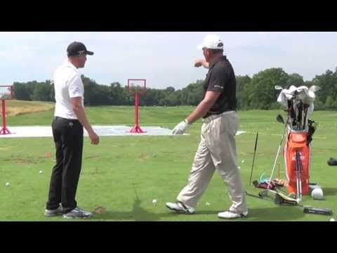 Jonas Blixt does an awesome trick shot at the John Deere Youth Clinic.
