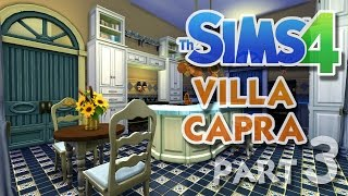 The Sims 4 House Building: Villa Capra - Part 3 - Kitchen And Dining Room! (real Time)