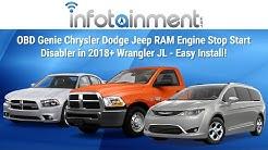 OBD Genie Chrysler Dodge Jeep RAM Engine Stop Start Disabler in 2018+ Wrangler JL - Easy Install!