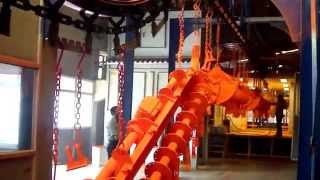 Powder coating plant for tractor parts,rotary tillers,farm equipment and agricultural machinery
