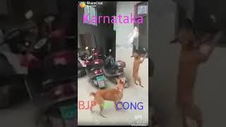 Bjp vs congress at karnataka funny