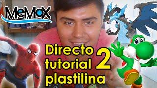 Directotutorial de plastilina con MeMoX haciendo a Mega Charizard, Spiderman civi war y Yoshi