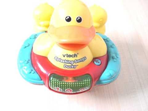 Splashing songs ducky vtech patito para el baño del bebe