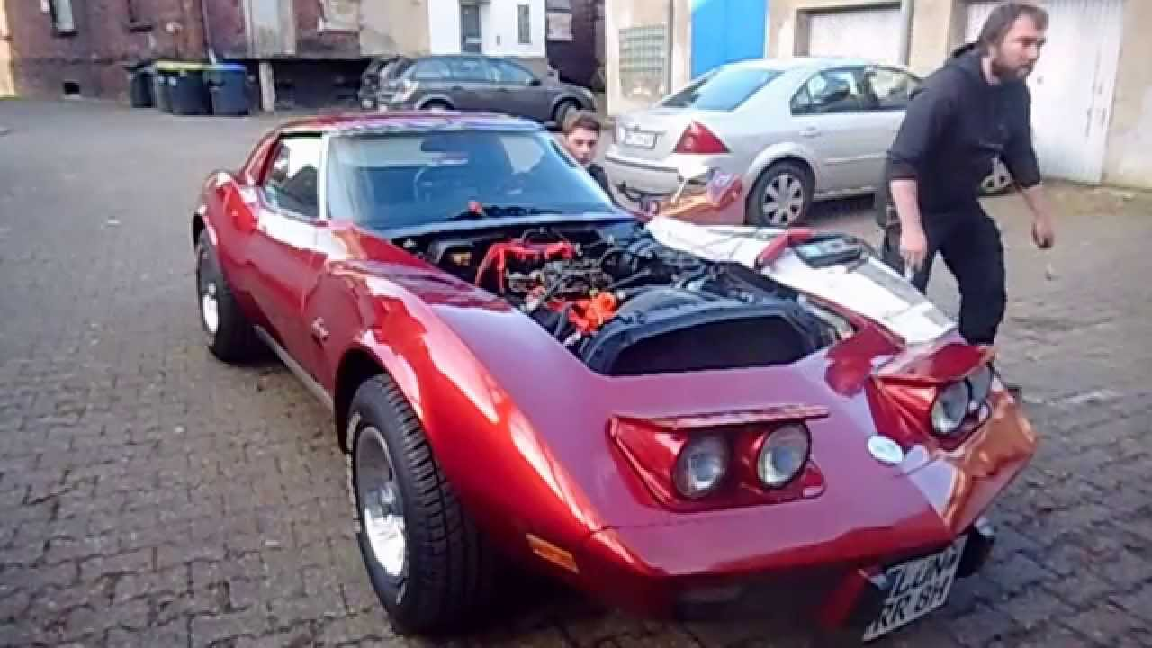 Chevy Corvette C3 1975 - first start - break in - sound ...