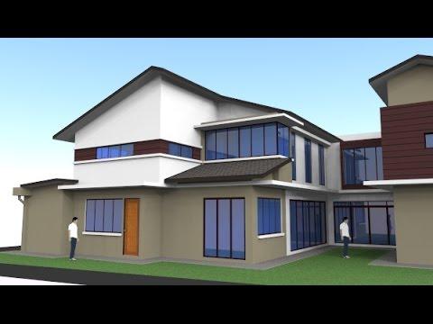 rekabentuk ubahsuai rumah teres 2 tingkat jenis end lot di